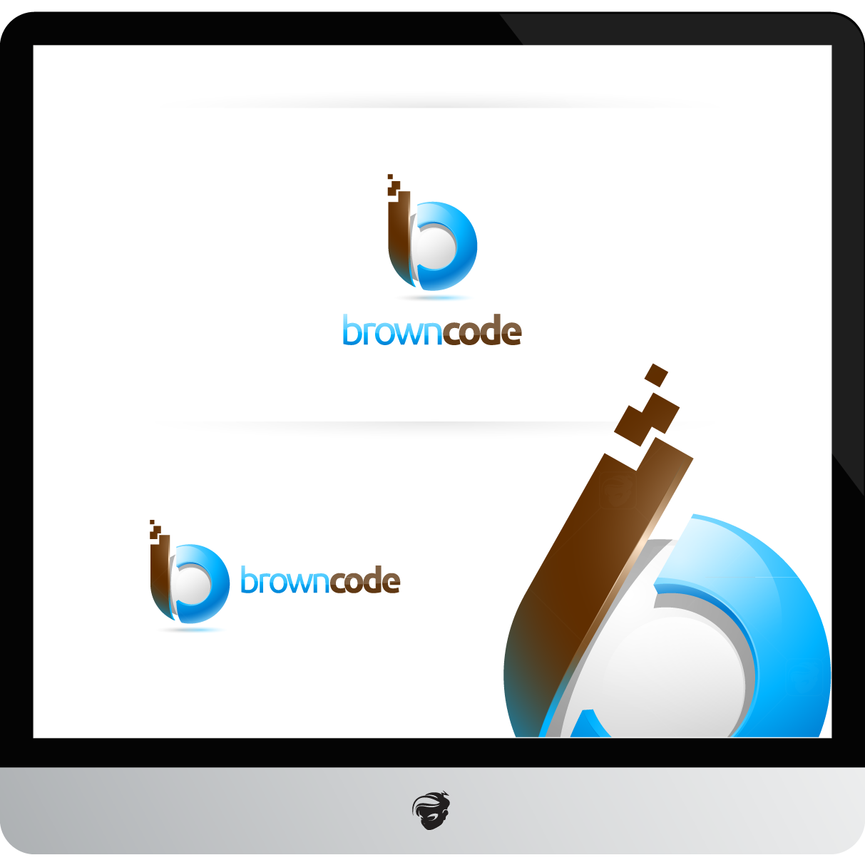 Logo Design by zesthar - Entry No. 122 in the Logo Design Contest New Logo Design for Brown Code.