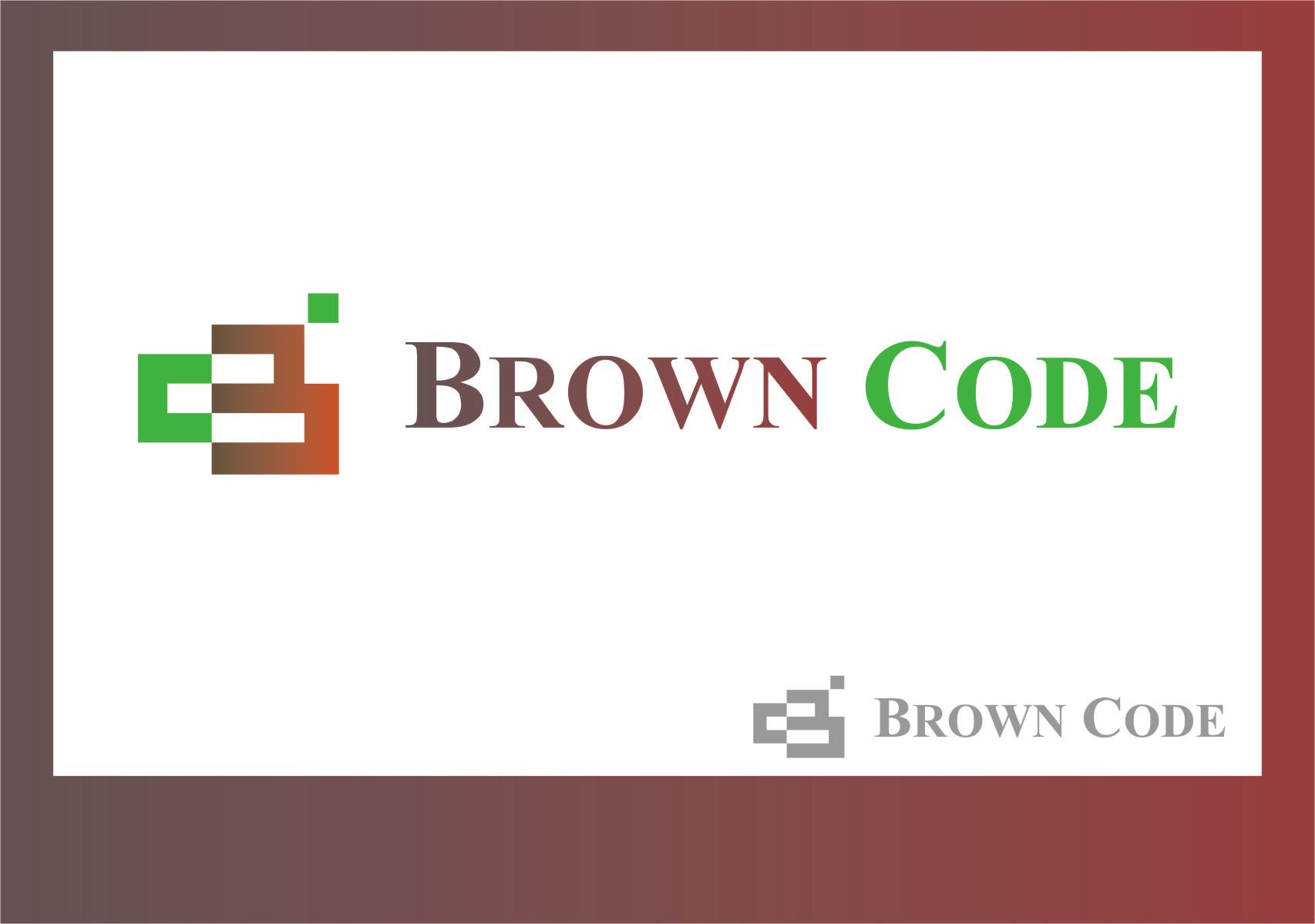 Logo Design by Ngepet_art - Entry No. 134 in the Logo Design Contest New Logo Design for Brown Code.