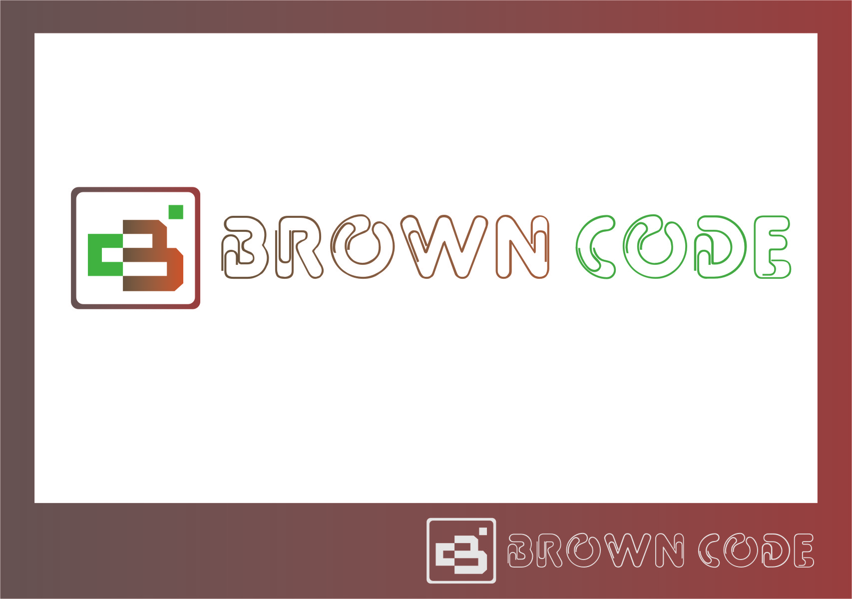 Logo Design by RasYa Muhammad Athaya - Entry No. 137 in the Logo Design Contest New Logo Design for Brown Code.