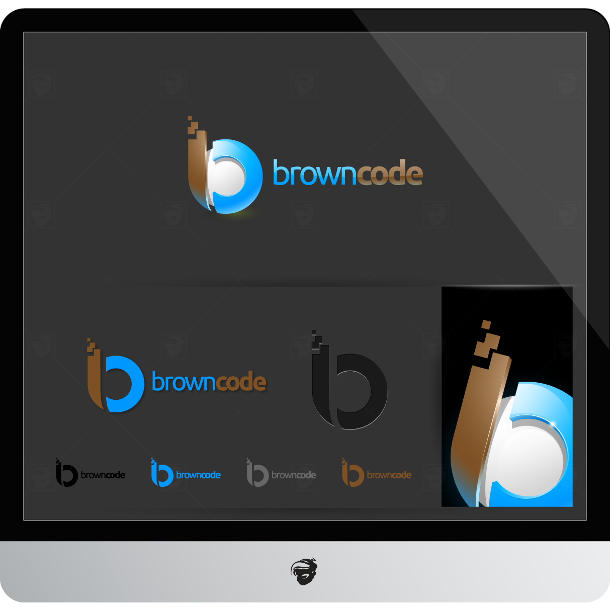 Logo Design by zesthar - Entry No. 162 in the Logo Design Contest New Logo Design for Brown Code.