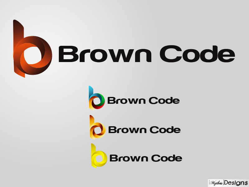 Logo Design by Mythos Designs - Entry No. 169 in the Logo Design Contest New Logo Design for Brown Code.