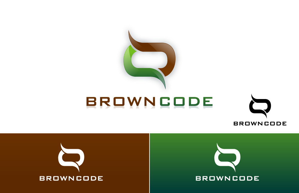 Logo Design by Asif Khan - Entry No. 174 in the Logo Design Contest New Logo Design for Brown Code.