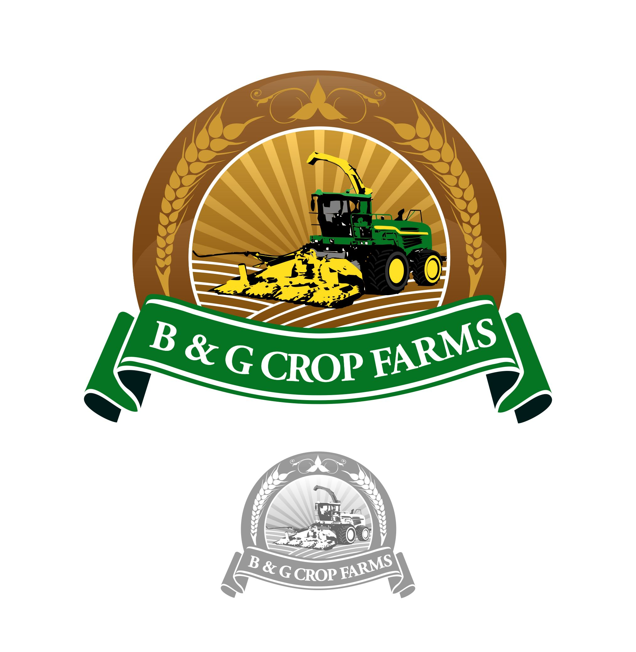 Logo Design by joca - Entry No. 53 in the Logo Design Contest Artistic Logo Design for B & G Crop Farms.