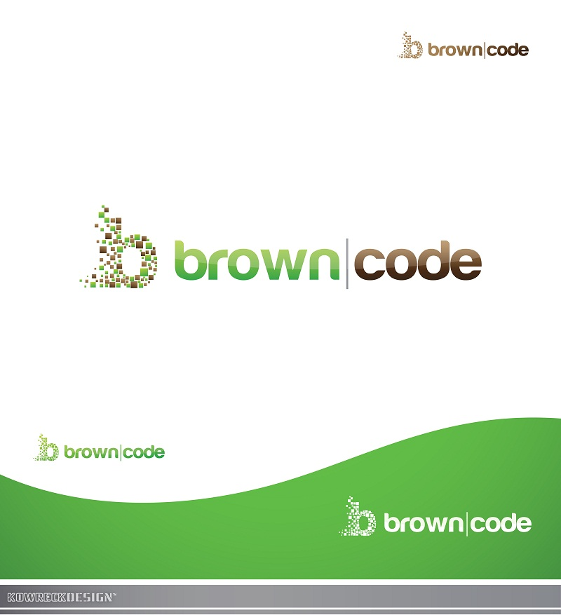 Logo Design by kowreck - Entry No. 193 in the Logo Design Contest New Logo Design for Brown Code.