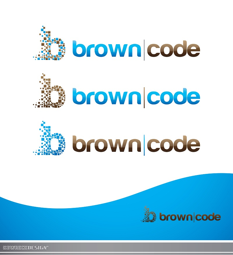 Logo Design by kowreck - Entry No. 196 in the Logo Design Contest New Logo Design for Brown Code.