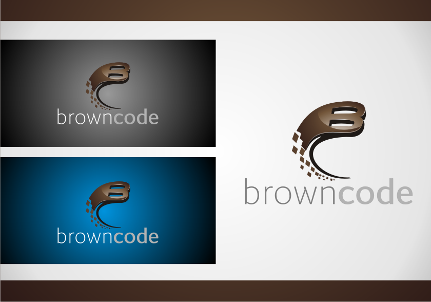 Logo Design by graphicleaf - Entry No. 212 in the Logo Design Contest New Logo Design for Brown Code.