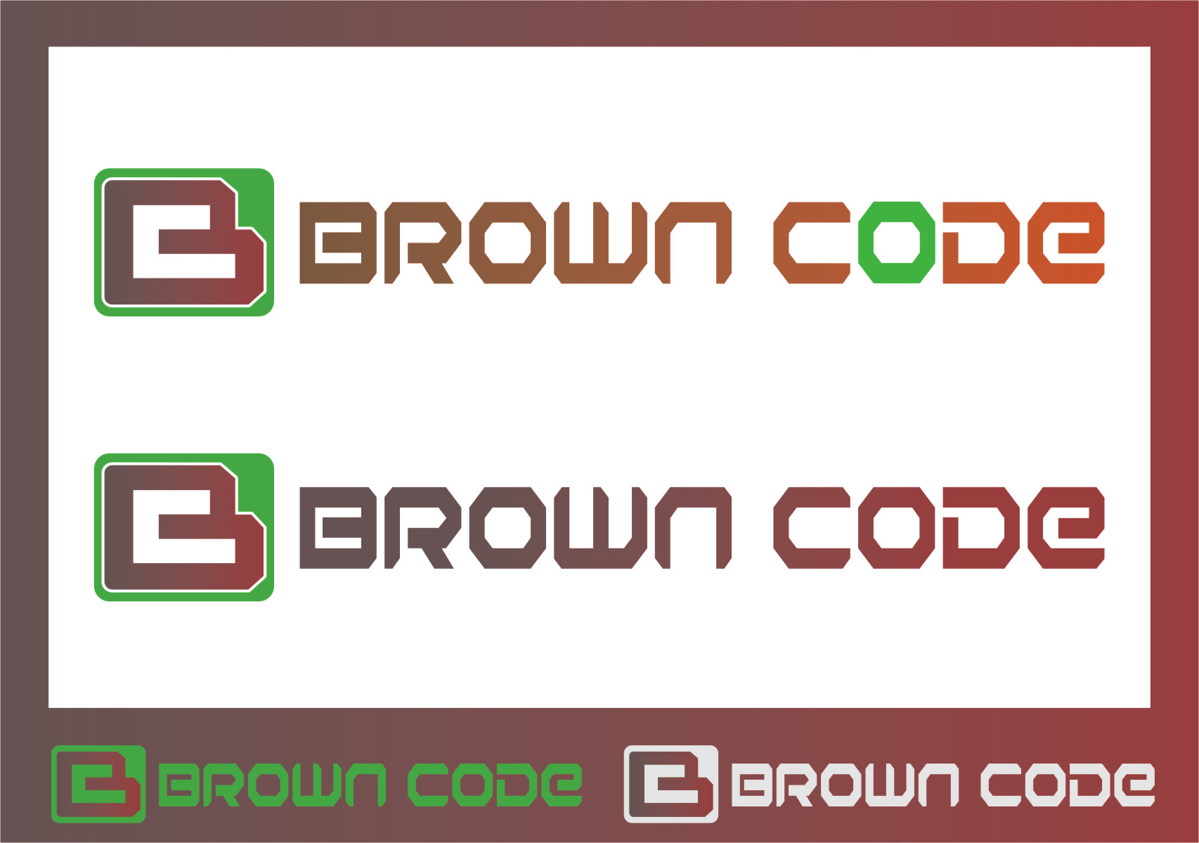 Logo Design by Ngepet_art - Entry No. 214 in the Logo Design Contest New Logo Design for Brown Code.