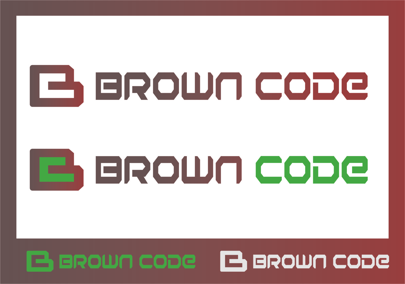 Logo Design by Ngepet_art - Entry No. 215 in the Logo Design Contest New Logo Design for Brown Code.