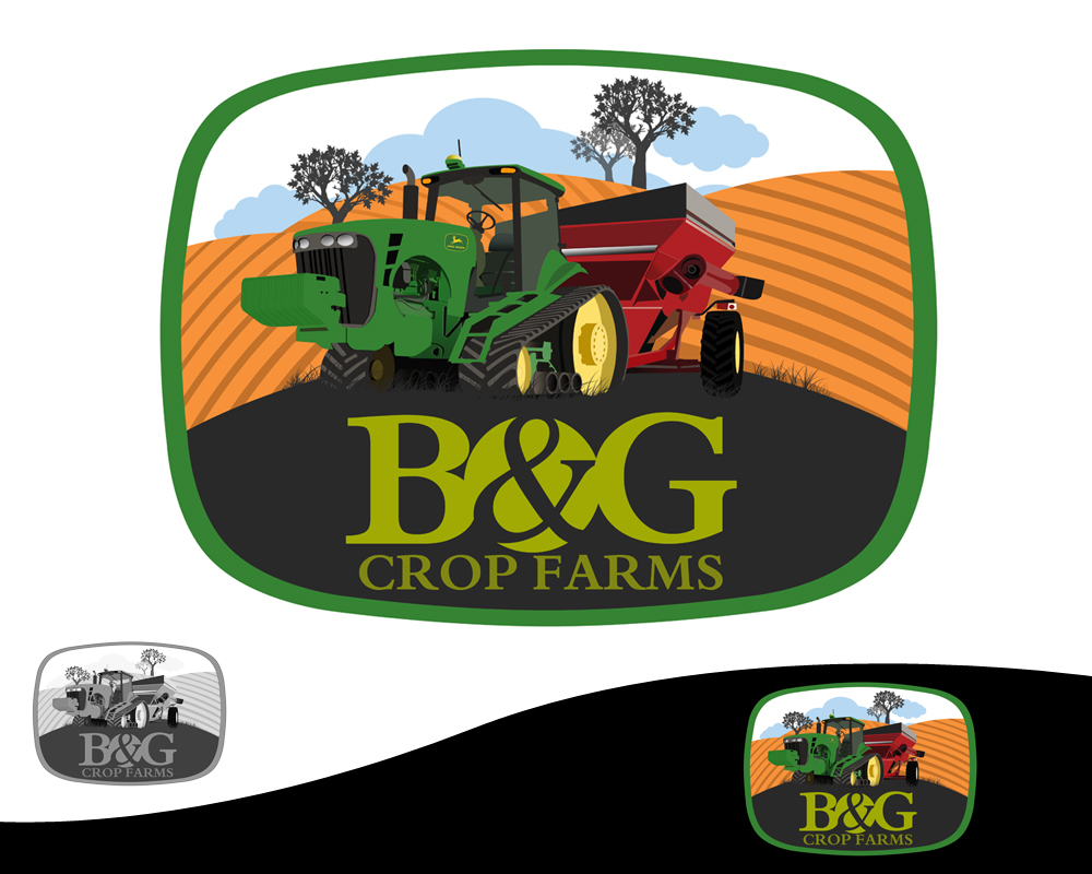 Logo Design by Private User - Entry No. 56 in the Logo Design Contest Artistic Logo Design for B & G Crop Farms.