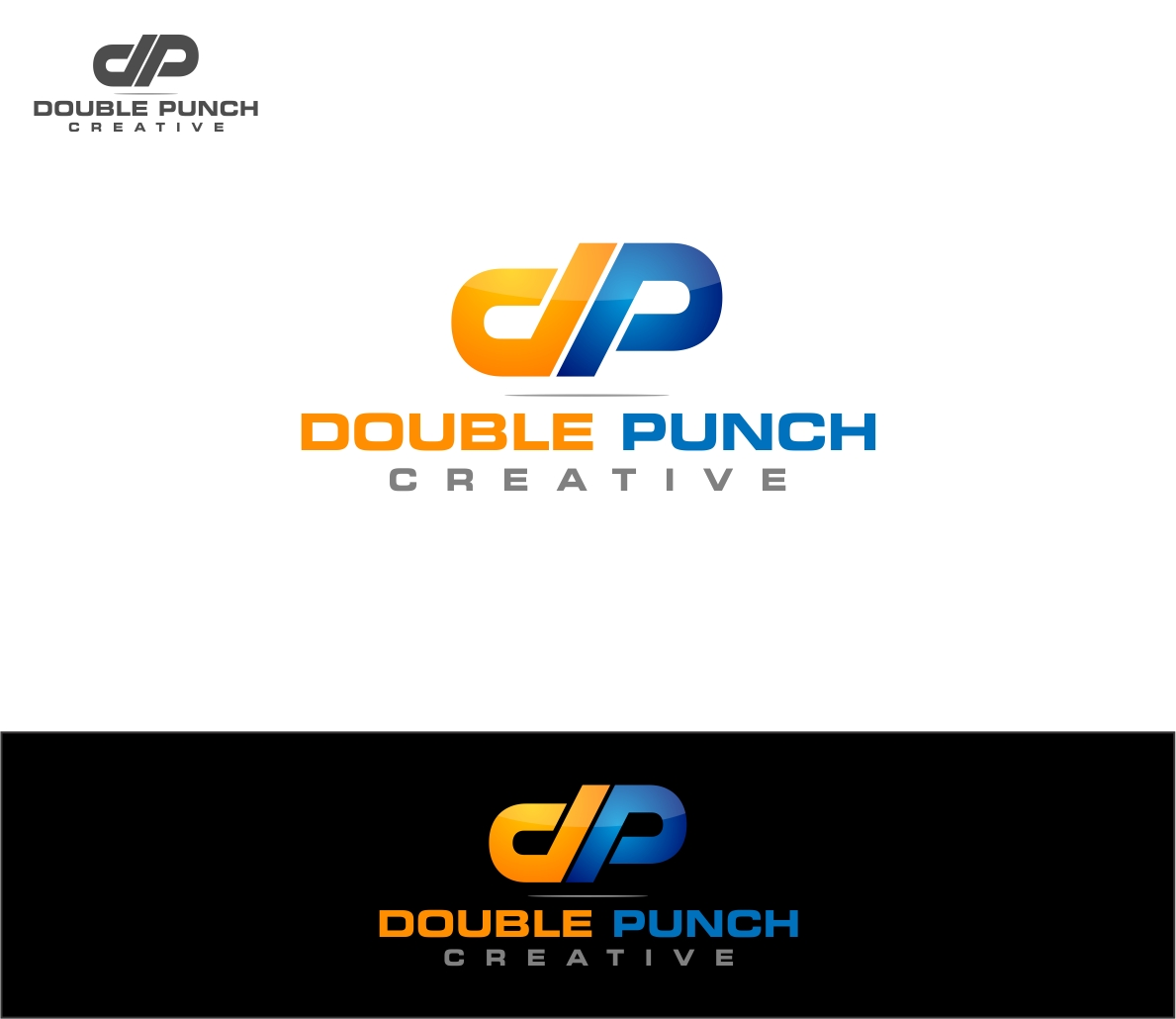 Logo Design by haidu - Entry No. 6 in the Logo Design Contest Unique Logo Design Wanted for Double Punch Creative.