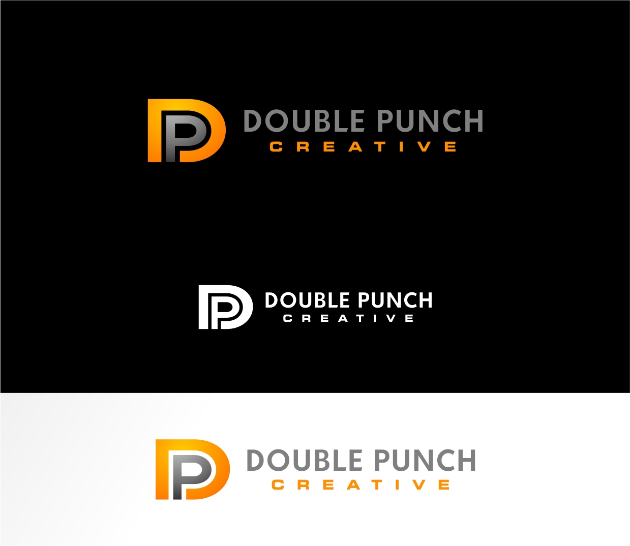 Logo Design by haidu - Entry No. 18 in the Logo Design Contest Unique Logo Design Wanted for Double Punch Creative.