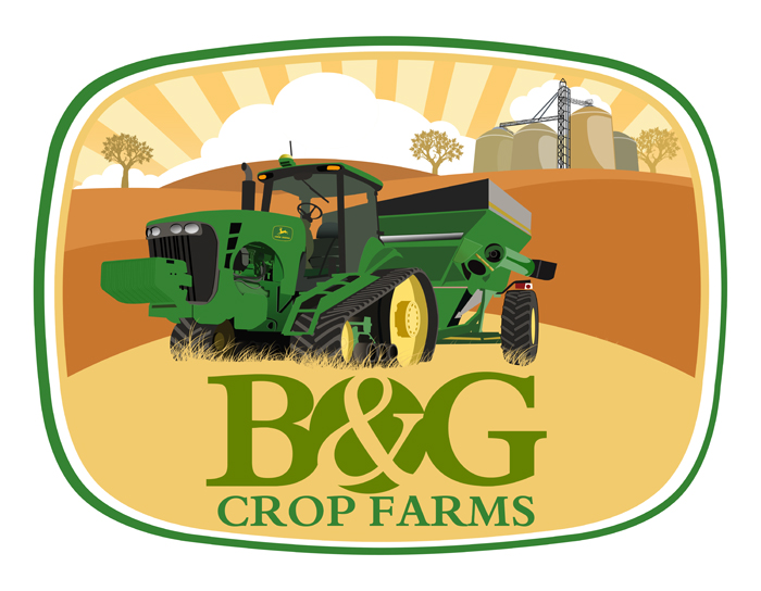 Logo Design by Private User - Entry No. 60 in the Logo Design Contest Artistic Logo Design for B & G Crop Farms.