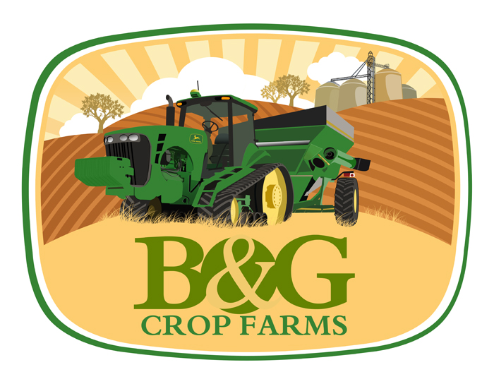 Logo Design by Private User - Entry No. 61 in the Logo Design Contest Artistic Logo Design for B & G Crop Farms.