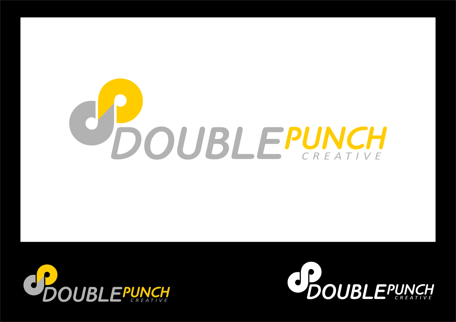 Logo Design by RasYa Muhammad Athaya - Entry No. 34 in the Logo Design Contest Unique Logo Design Wanted for Double Punch Creative.