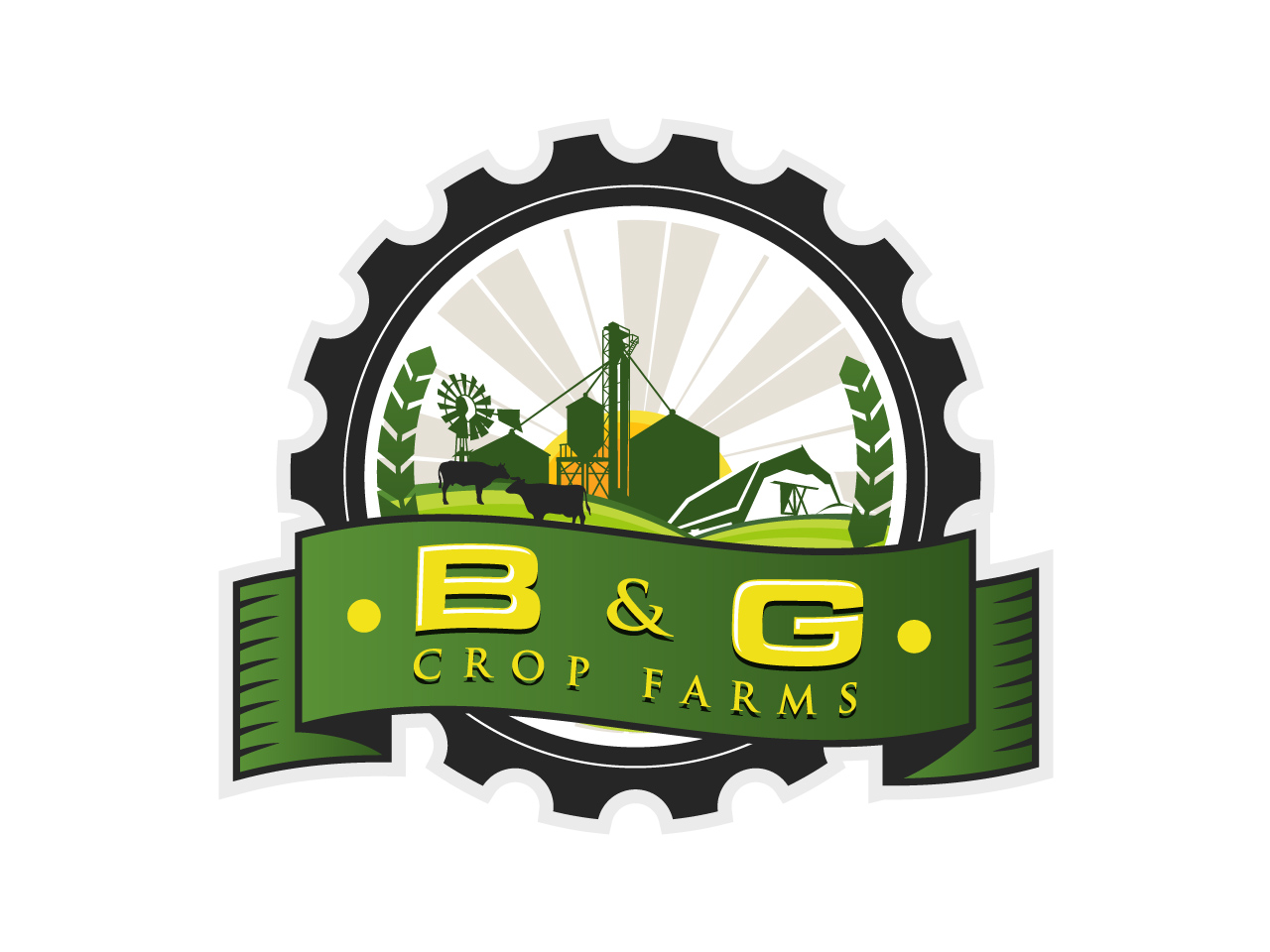 Logo Design by jpbituin - Entry No. 63 in the Logo Design Contest Artistic Logo Design for B & G Crop Farms.