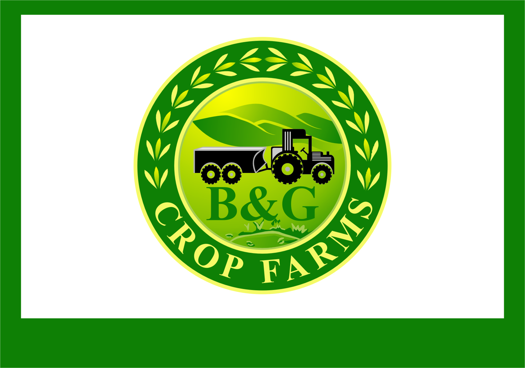 Logo Design by Ngepet_art - Entry No. 73 in the Logo Design Contest Artistic Logo Design for B & G Crop Farms.