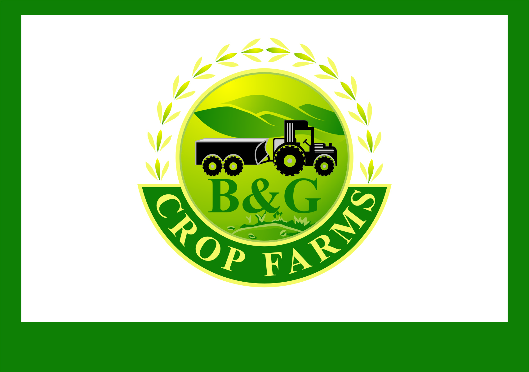 Logo Design by RasYa Muhammad Athaya - Entry No. 74 in the Logo Design Contest Artistic Logo Design for B & G Crop Farms.