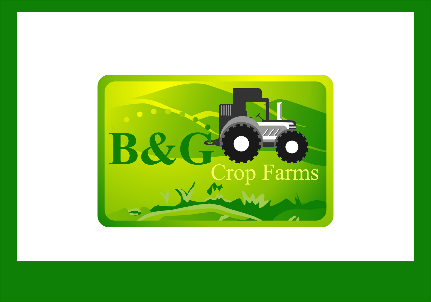 Logo Design by Ngepet_art - Entry No. 76 in the Logo Design Contest Artistic Logo Design for B & G Crop Farms.