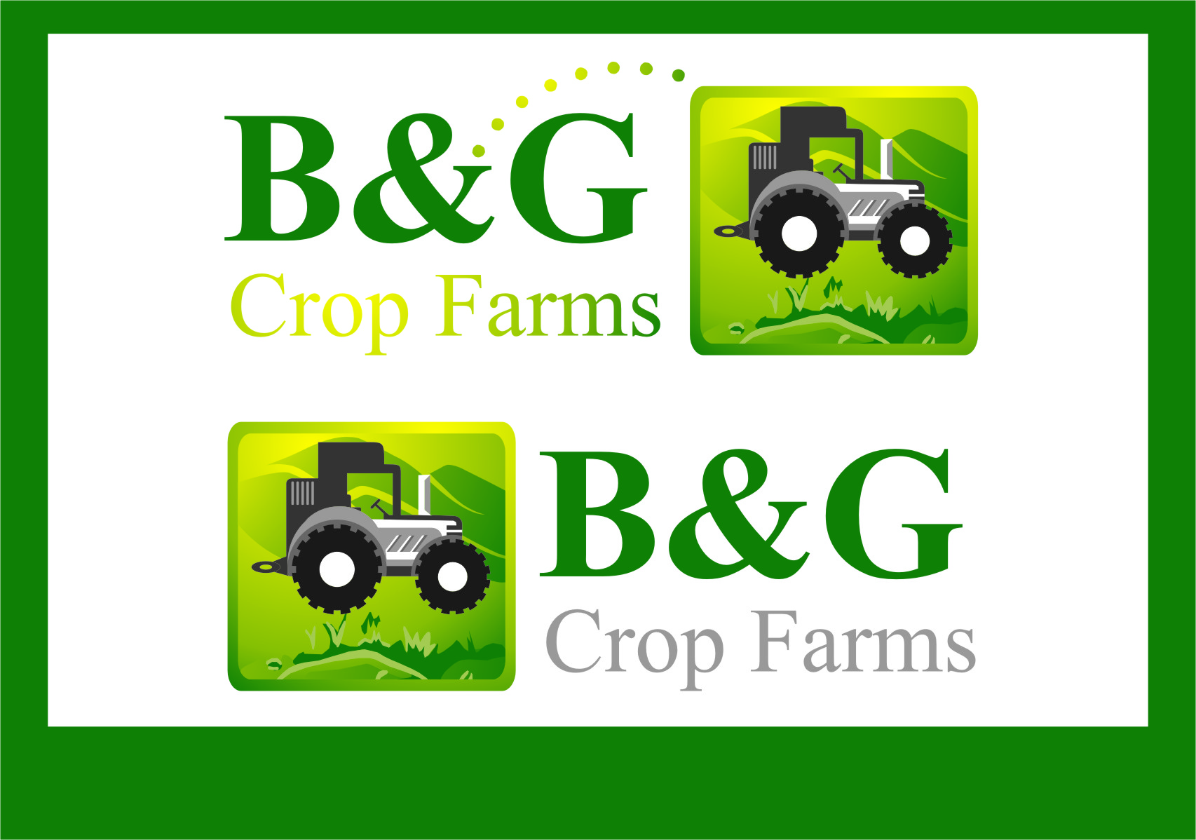 Logo Design by Ngepet_art - Entry No. 77 in the Logo Design Contest Artistic Logo Design for B & G Crop Farms.