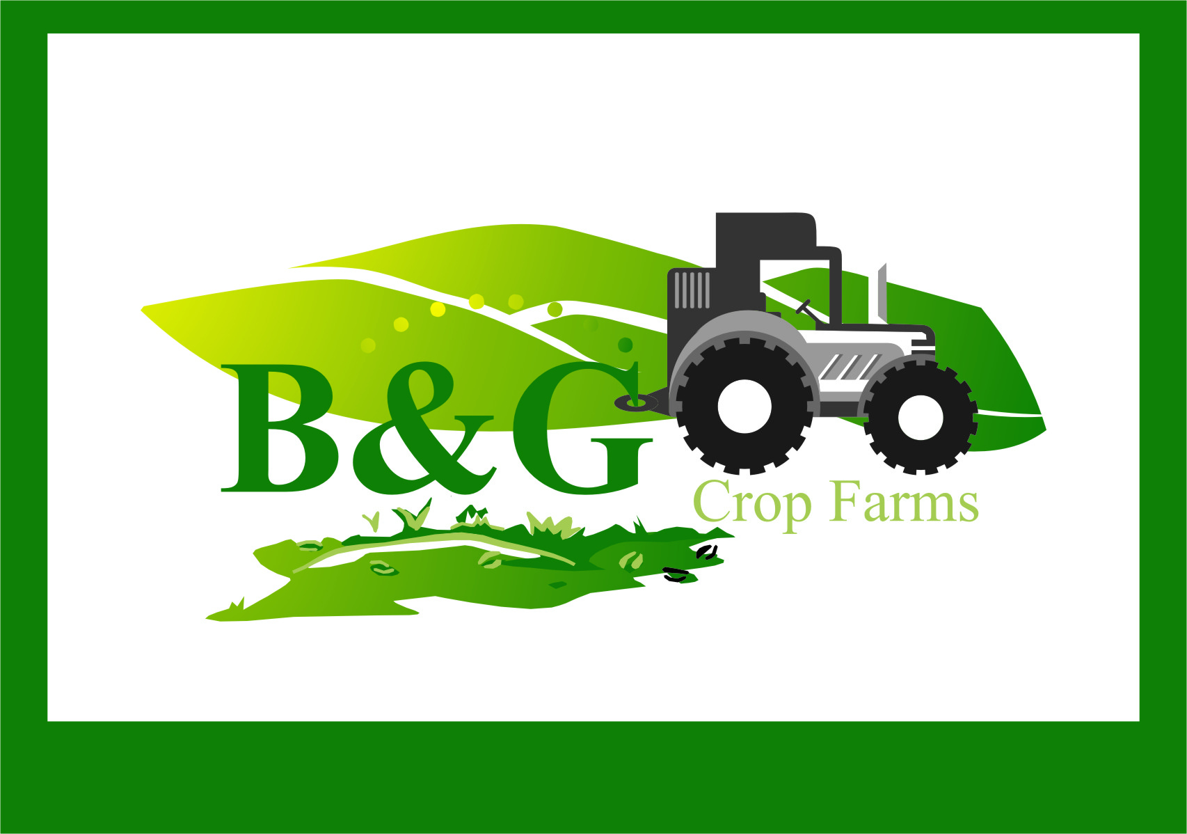 Logo Design by RasYa Muhammad Athaya - Entry No. 78 in the Logo Design Contest Artistic Logo Design for B & G Crop Farms.