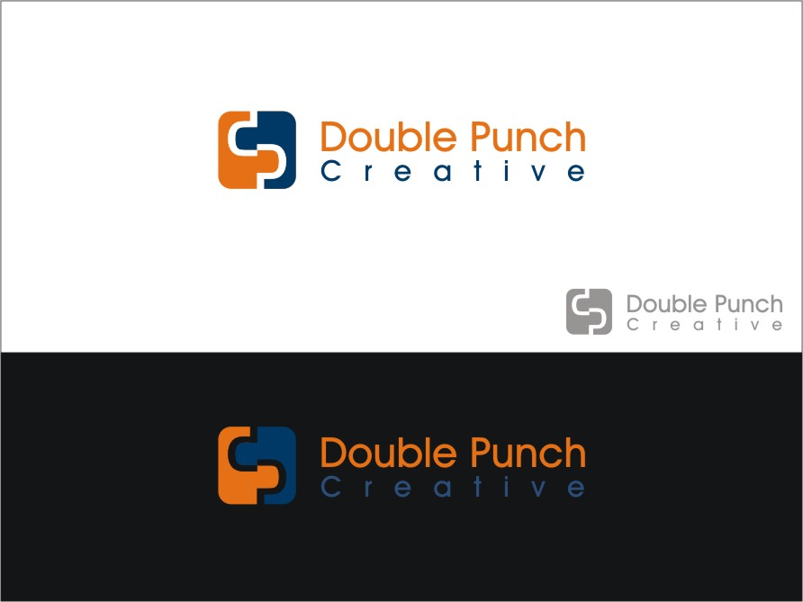 Logo Design by RED HORSE design studio - Entry No. 44 in the Logo Design Contest Unique Logo Design Wanted for Double Punch Creative.