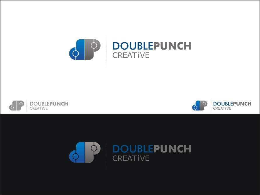 Logo Design by RED HORSE design studio - Entry No. 45 in the Logo Design Contest Unique Logo Design Wanted for Double Punch Creative.