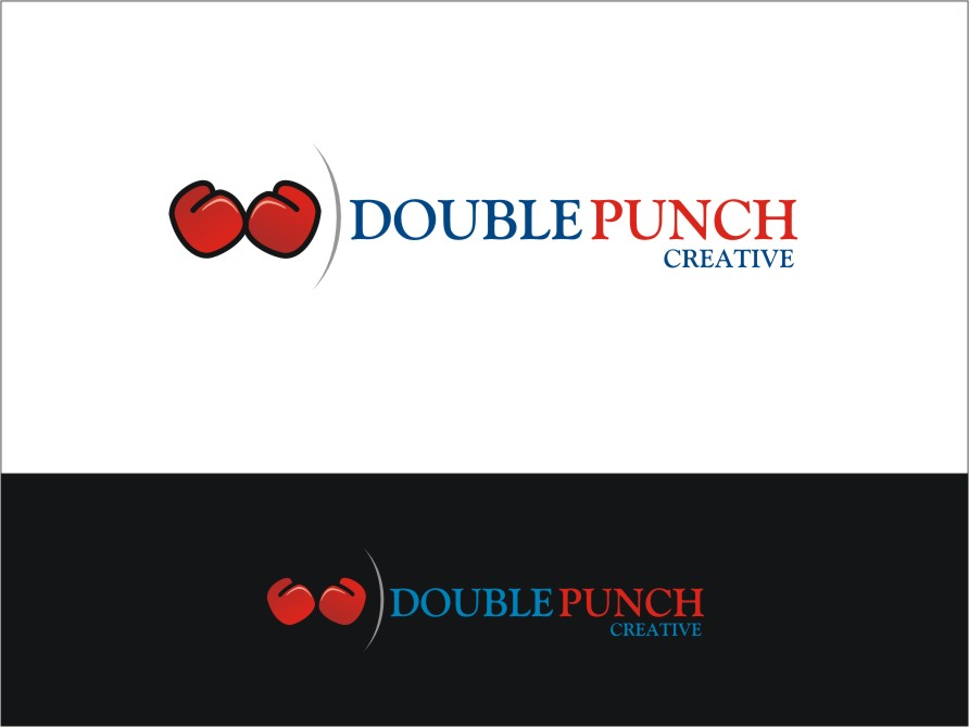 Logo Design by RED HORSE design studio - Entry No. 46 in the Logo Design Contest Unique Logo Design Wanted for Double Punch Creative.
