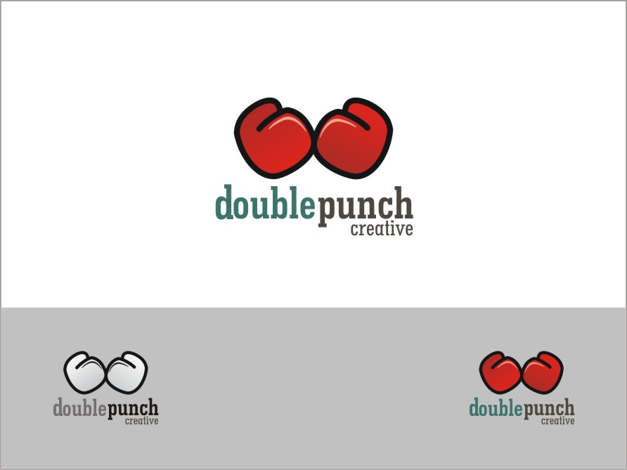 Logo Design by RED HORSE design studio - Entry No. 47 in the Logo Design Contest Unique Logo Design Wanted for Double Punch Creative.