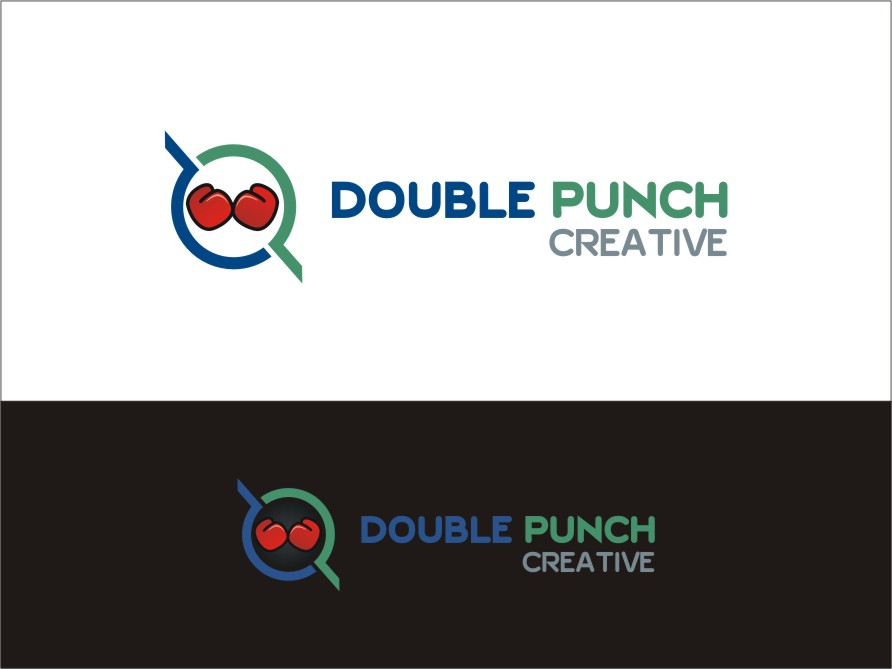 Logo Design by RED HORSE design studio - Entry No. 57 in the Logo Design Contest Unique Logo Design Wanted for Double Punch Creative.