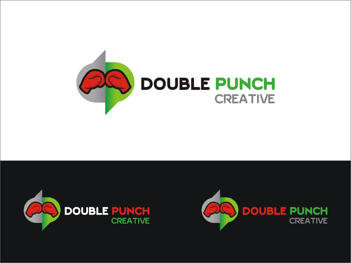Logo Design by RED HORSE design studio - Entry No. 68 in the Logo Design Contest Unique Logo Design Wanted for Double Punch Creative.
