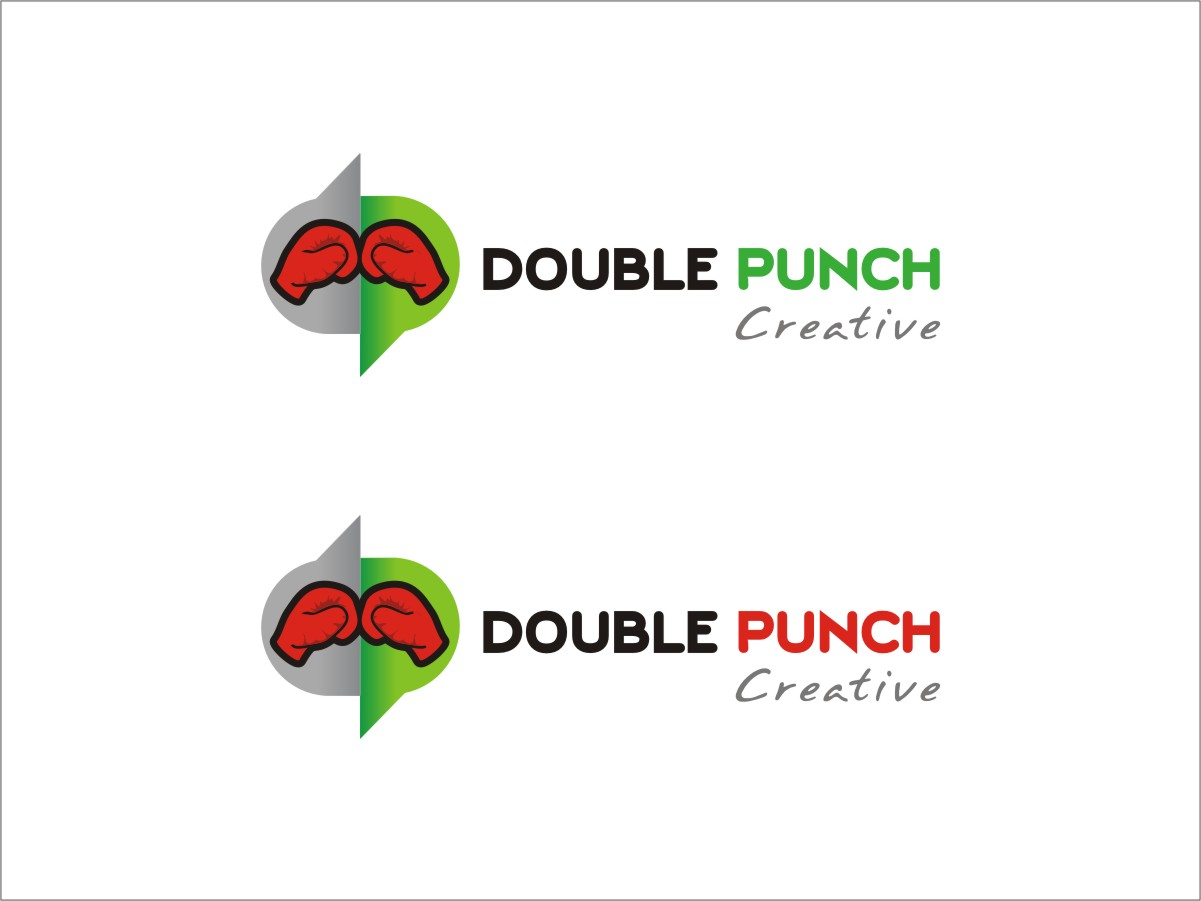 Logo Design by RED HORSE design studio - Entry No. 69 in the Logo Design Contest Unique Logo Design Wanted for Double Punch Creative.