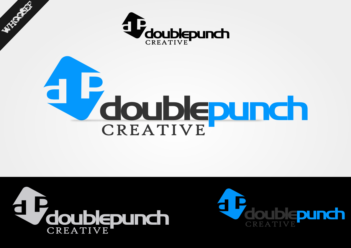 Logo Design by whoosef - Entry No. 74 in the Logo Design Contest Unique Logo Design Wanted for Double Punch Creative.