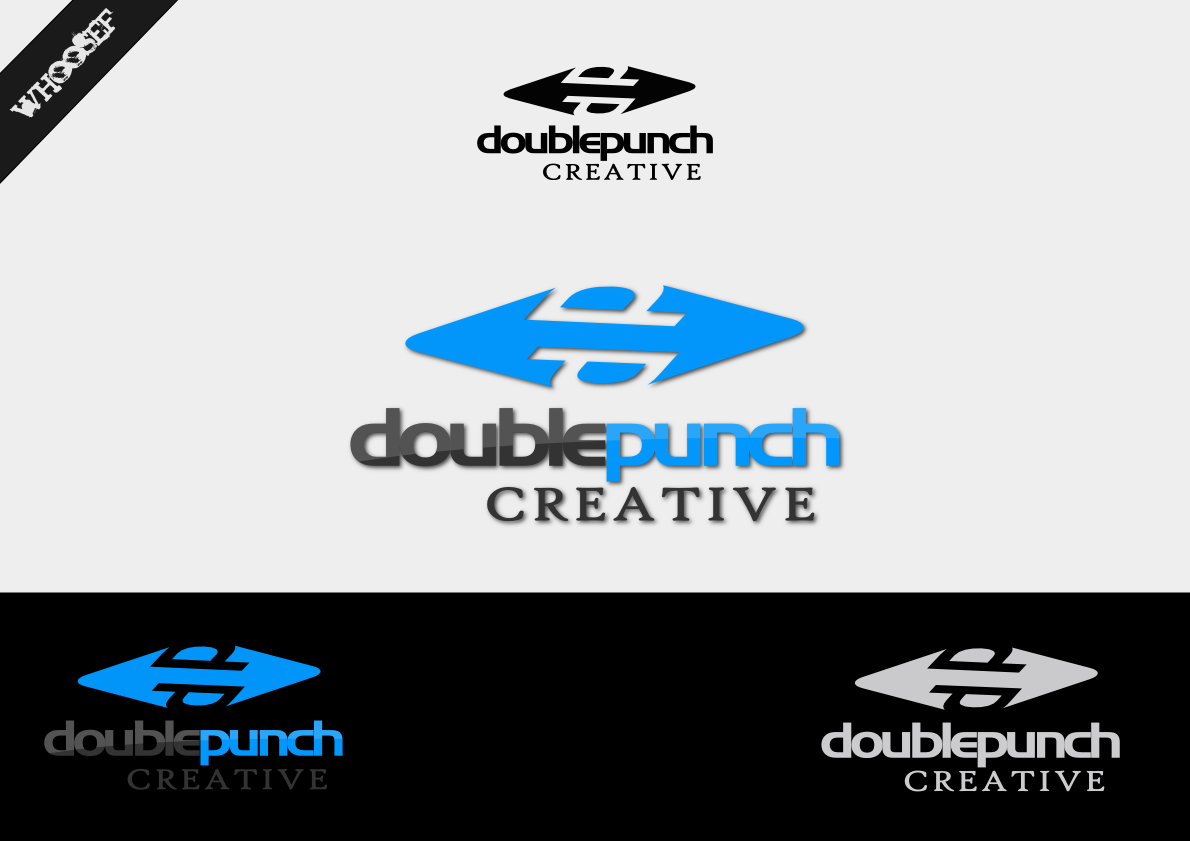 Logo Design by whoosef - Entry No. 75 in the Logo Design Contest Unique Logo Design Wanted for Double Punch Creative.