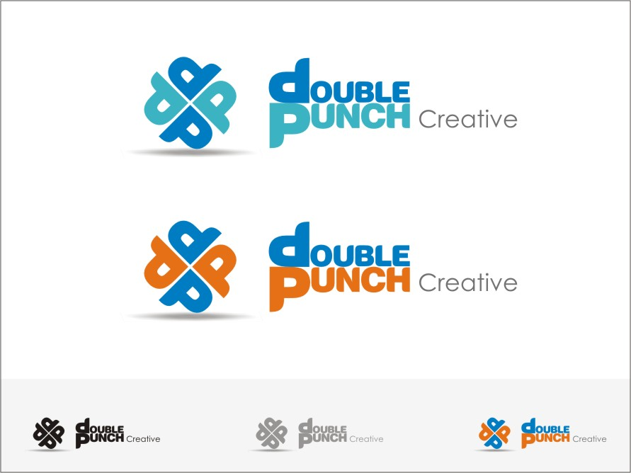 Logo Design by RED HORSE design studio - Entry No. 82 in the Logo Design Contest Unique Logo Design Wanted for Double Punch Creative.