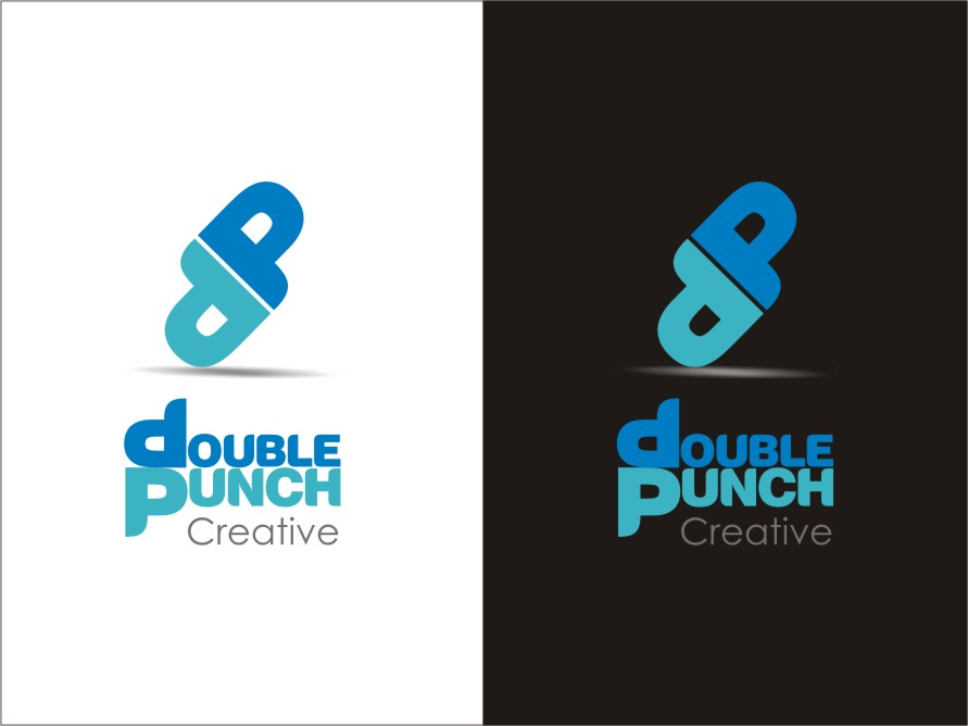 Logo Design by RED HORSE design studio - Entry No. 85 in the Logo Design Contest Unique Logo Design Wanted for Double Punch Creative.