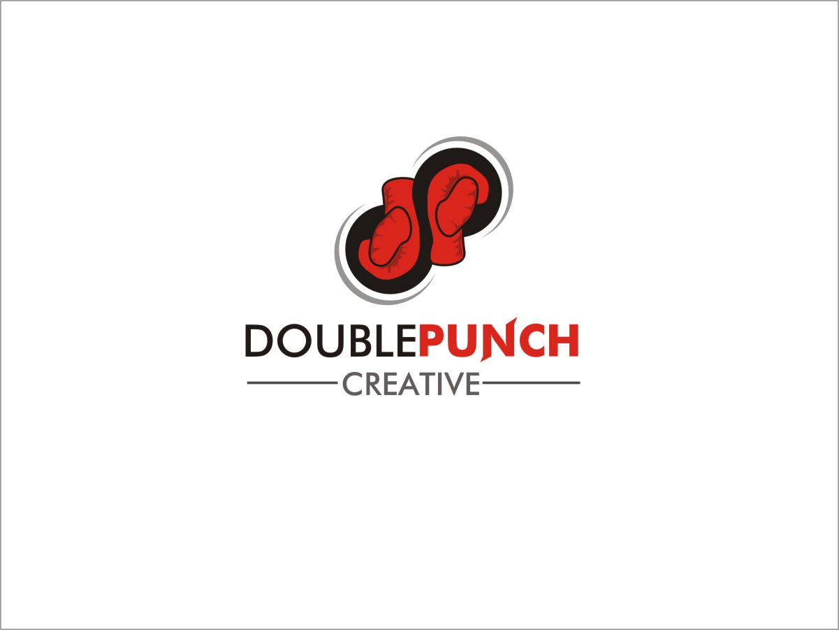 Logo Design by RED HORSE design studio - Entry No. 87 in the Logo Design Contest Unique Logo Design Wanted for Double Punch Creative.