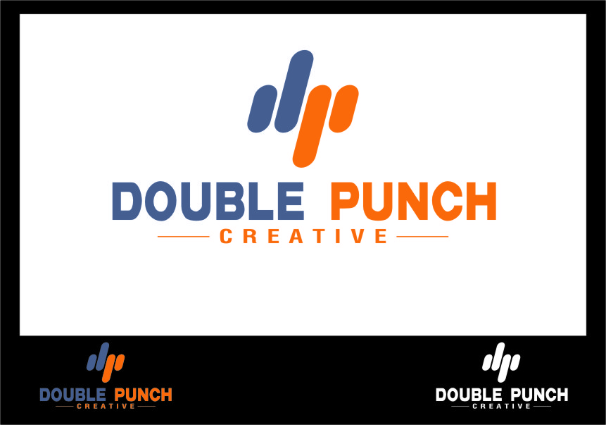 Logo Design by RasYa Muhammad Athaya - Entry No. 114 in the Logo Design Contest Unique Logo Design Wanted for Double Punch Creative.