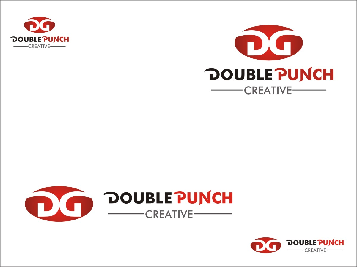 Logo Design by RED HORSE design studio - Entry No. 121 in the Logo Design Contest Unique Logo Design Wanted for Double Punch Creative.