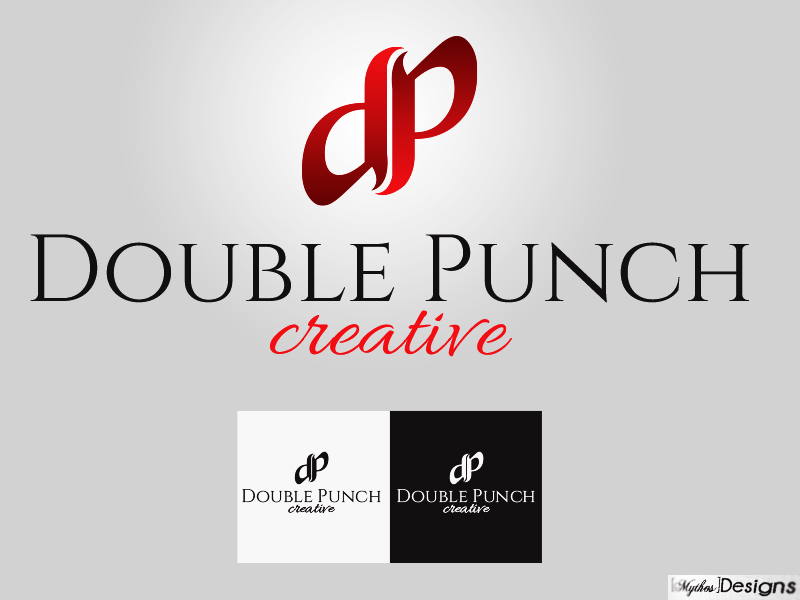 Logo Design by Mythos Designs - Entry No. 122 in the Logo Design Contest Unique Logo Design Wanted for Double Punch Creative.