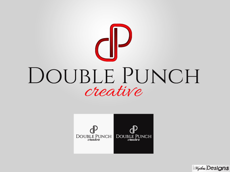 Logo Design by Mythos Designs - Entry No. 123 in the Logo Design Contest Unique Logo Design Wanted for Double Punch Creative.