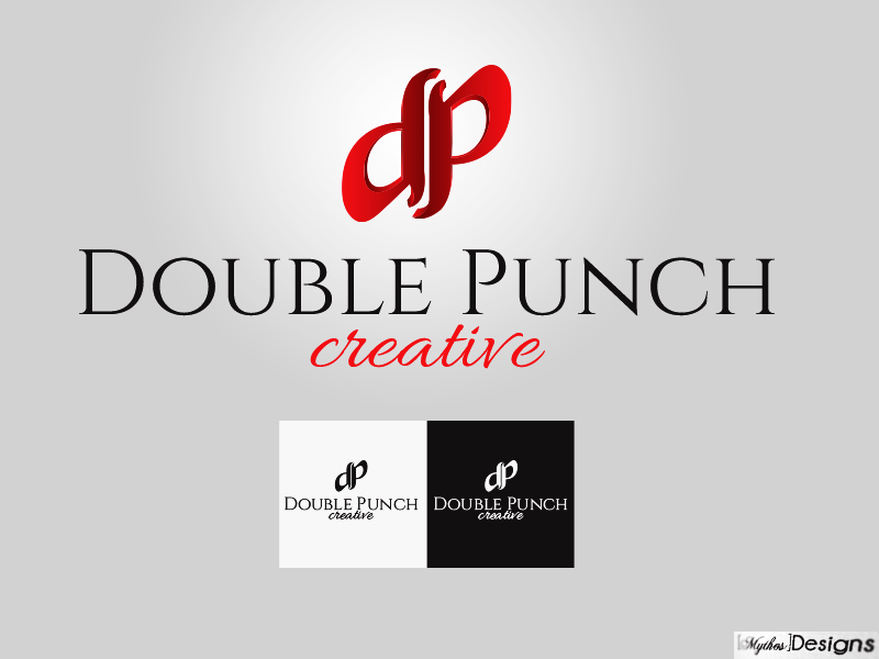 Logo Design by Mythos Designs - Entry No. 124 in the Logo Design Contest Unique Logo Design Wanted for Double Punch Creative.