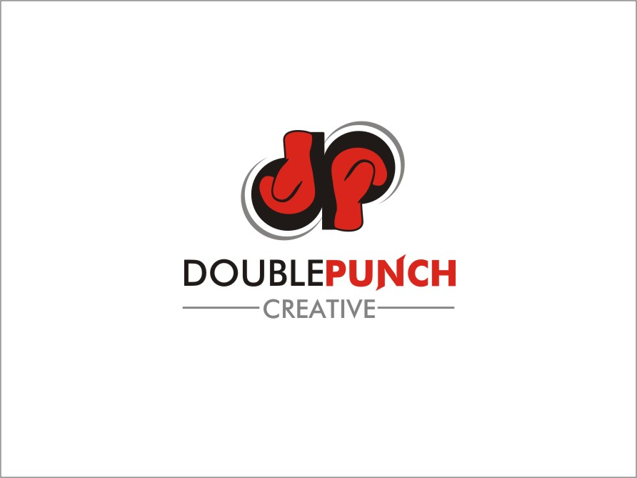Logo Design by RED HORSE design studio - Entry No. 127 in the Logo Design Contest Unique Logo Design Wanted for Double Punch Creative.