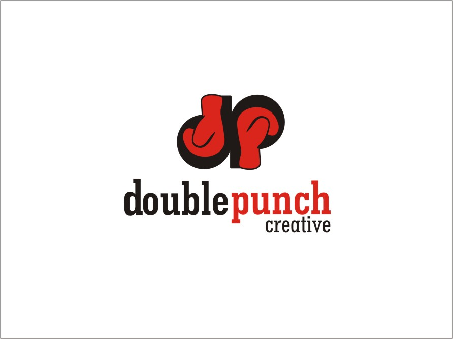 Logo Design by RED HORSE design studio - Entry No. 128 in the Logo Design Contest Unique Logo Design Wanted for Double Punch Creative.
