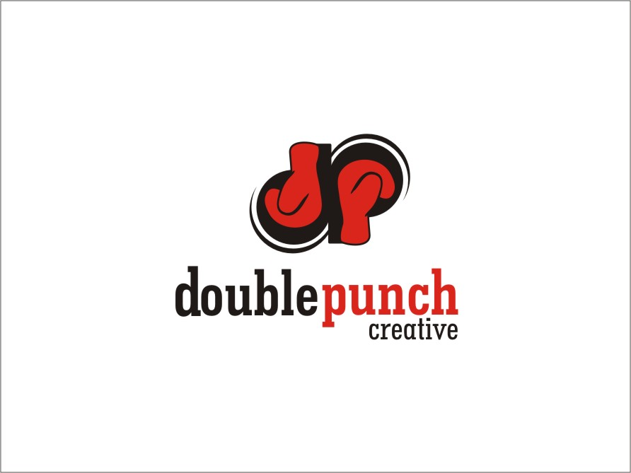 Logo Design by RED HORSE design studio - Entry No. 130 in the Logo Design Contest Unique Logo Design Wanted for Double Punch Creative.