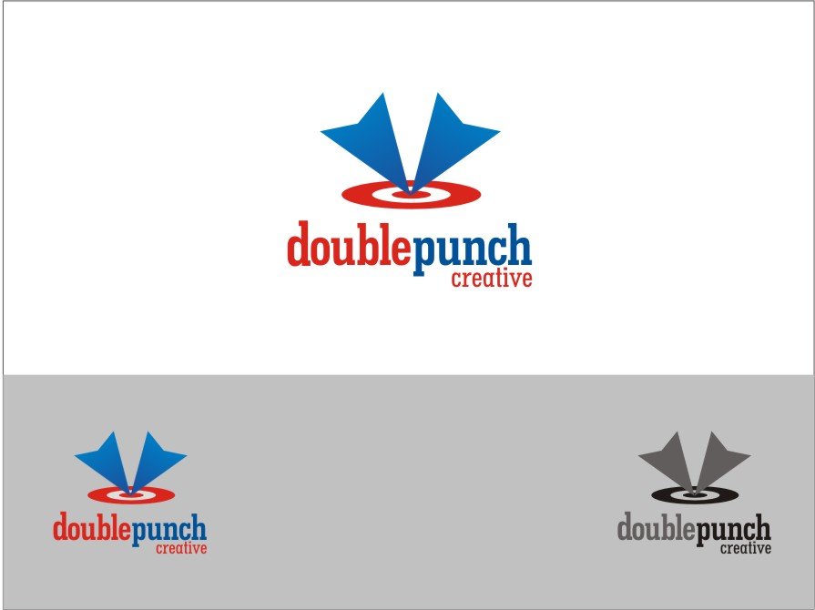 Logo Design by RED HORSE design studio - Entry No. 143 in the Logo Design Contest Unique Logo Design Wanted for Double Punch Creative.