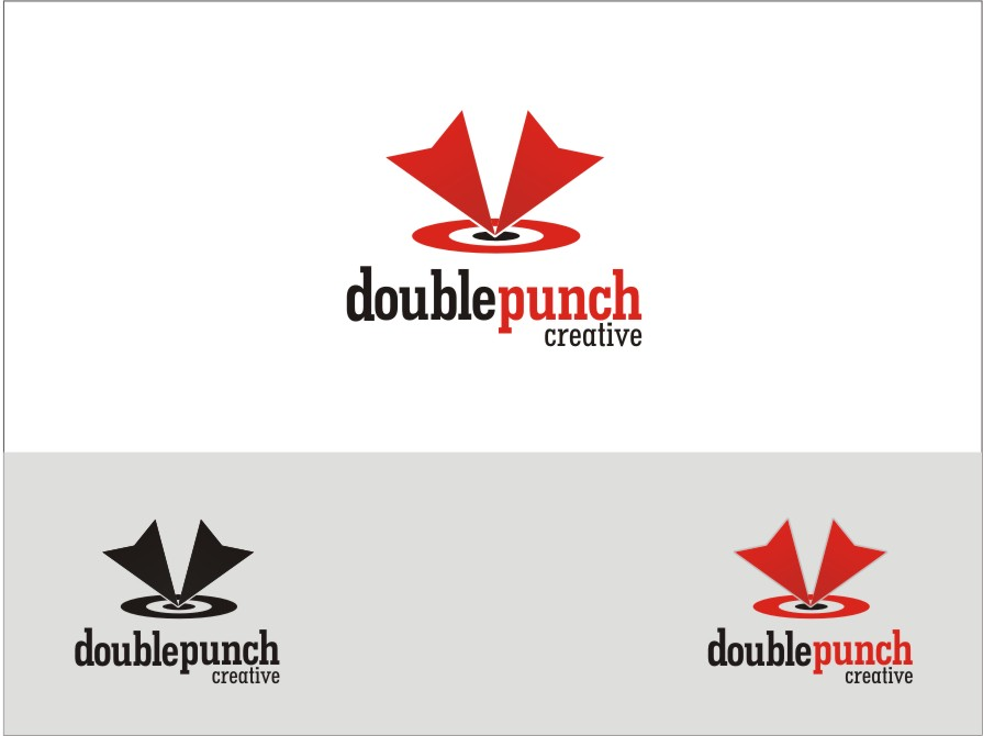 Logo Design by RED HORSE design studio - Entry No. 144 in the Logo Design Contest Unique Logo Design Wanted for Double Punch Creative.