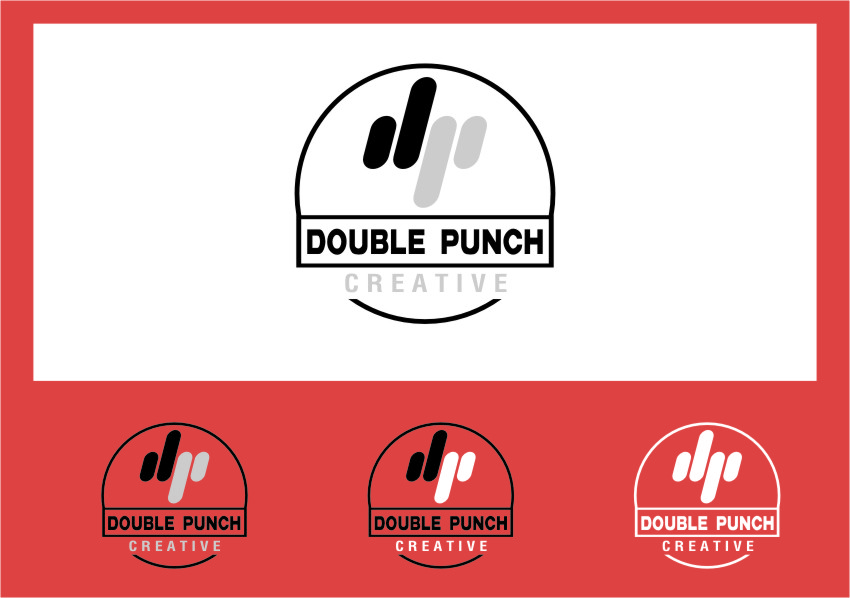 Logo Design by RasYa Muhammad Athaya - Entry No. 148 in the Logo Design Contest Unique Logo Design Wanted for Double Punch Creative.