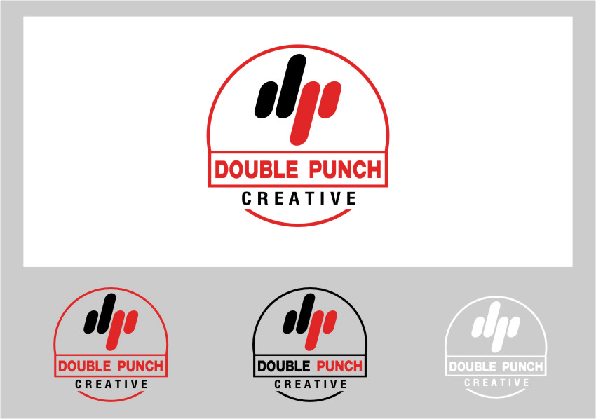 Logo Design by Ngepet_art - Entry No. 149 in the Logo Design Contest Unique Logo Design Wanted for Double Punch Creative.