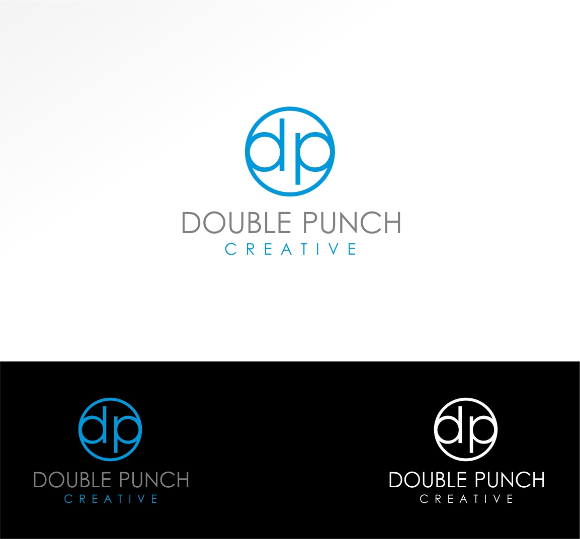 Logo Design by haidu - Entry No. 150 in the Logo Design Contest Unique Logo Design Wanted for Double Punch Creative.