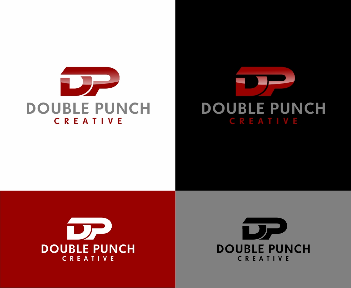 Logo Design by haidu - Entry No. 154 in the Logo Design Contest Unique Logo Design Wanted for Double Punch Creative.